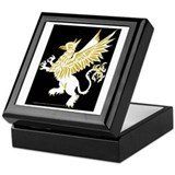 Graphic Gryphon White Gold Keepsake Box