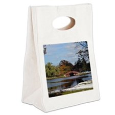Elm Park Bridge, Worcester, Mass Canvas Lunch Tote