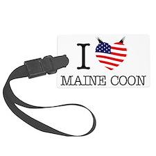 I love Maine Coon (USA) Luggage Tag