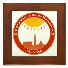 Marine Corps Marathon 2013 I Survived Framed Tile