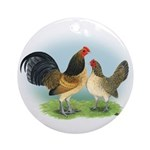 Blue Quail OE Ornament (Round)