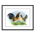 Blue Quail OE Large Framed Print