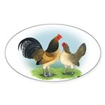 Blue Quail OE Oval Sticker