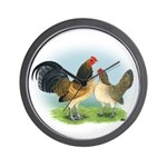 Blue Quail OE Wall Clock