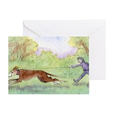 she took him for a run every morning Greeting Card