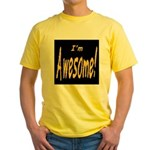 Awesome Designs Yellow T-Shirt