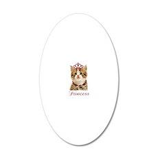 princesskitten_apparel_kids 20x12 Oval Wall Decal