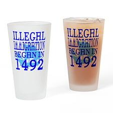 1492-blue-bb-blue Drinking Glass