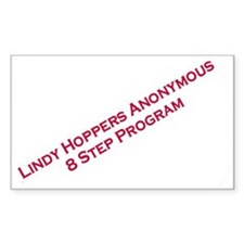 Lindy Hoppers Anonymous Rectangle Decal