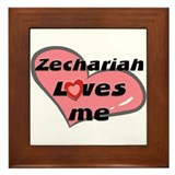 zechariah loves me  Framed Tile
