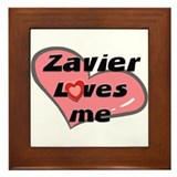zavier loves me  Framed Tile