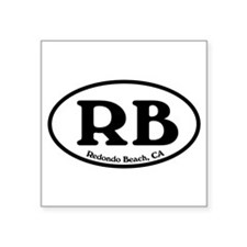 Redondo Beach RB Euro Oval Oval Sticker