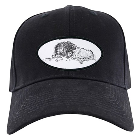 Lion Sketch Black Cap