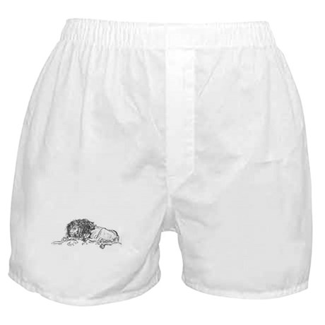 Lion Sketch Boxer Shorts
