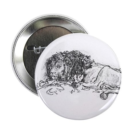 "Lion Sketch 2.25"" Button (10 pack)"