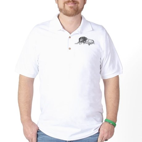 Lion Sketch Golf Shirt