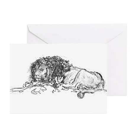 Lion Sketch Greeting Cards (Pk of 10)