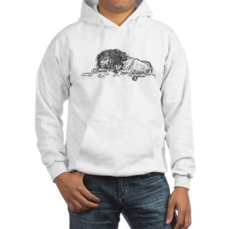 Lion Sketch Hooded Sweatshirt