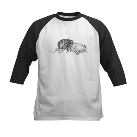 Lion Sketch Kids Baseball Jersey
