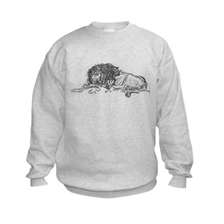 Lion Sketch Kids Sweatshirt