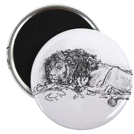 "Lion Sketch 2.25"" Magnet (10 pack)"