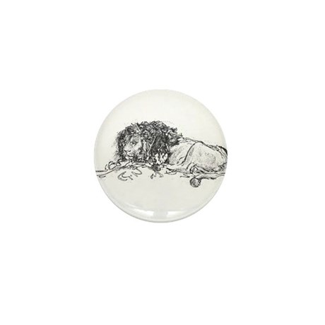 Lion Sketch Mini Button