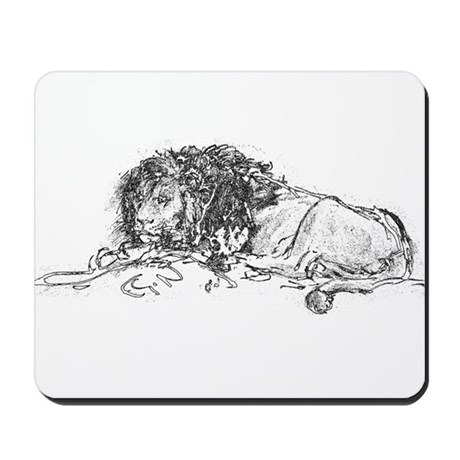 Lion Sketch Mousepad
