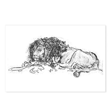 Lion Sketch Postcards (Package of 8)