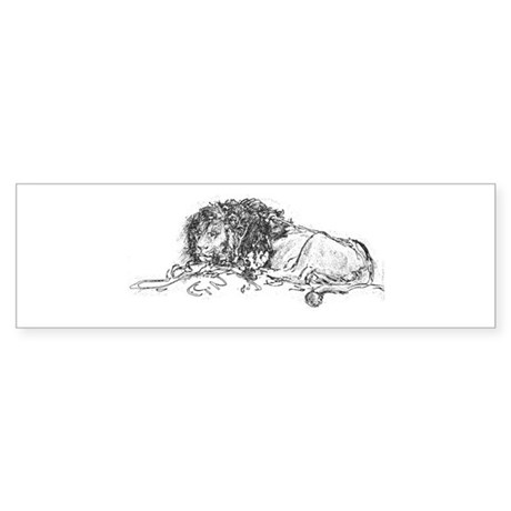 Lion Sketch Bumper Sticker