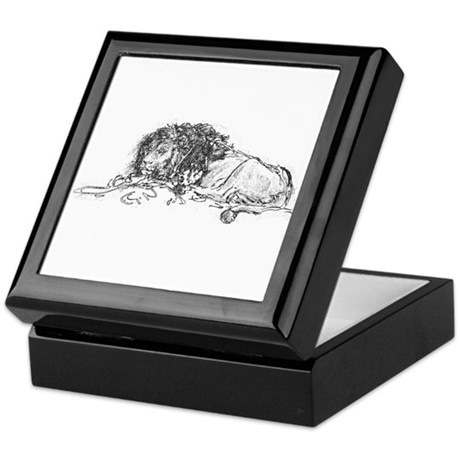 Lion Sketch Keepsake Box