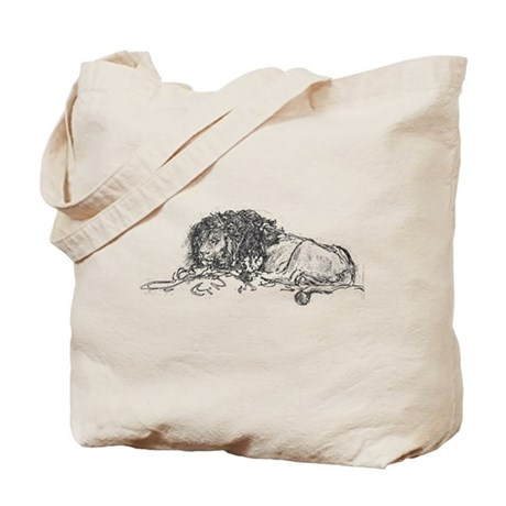 Lion Sketch Tote Bag