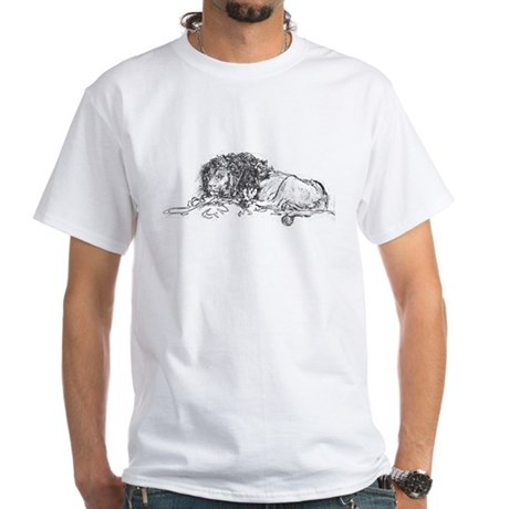 Lion Sketch White T-Shirt