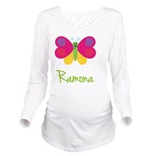 Ramona-the-butterfly Long Sleeve Maternity T-Shirt