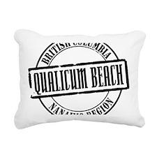 Qualicum Beach Title W Rectangular Canvas Pillow