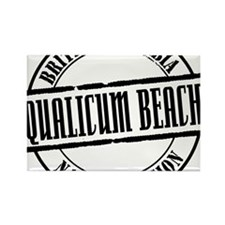 Qualicum Beach Title W Rectangle Magnet