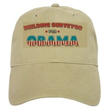 Building surveyor for Obama Ornament Baseball Cap