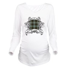 Clark Tartan Shield Long Sleeve Maternity T-Shirt