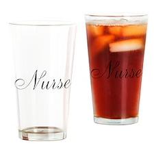 Nurse Black Script Drinking Glass