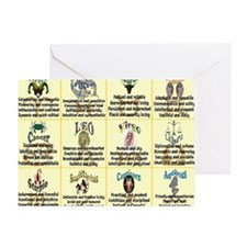 zodiac-poster Greeting Card