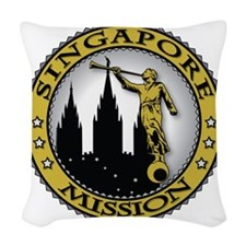 Singapore LDS Mission Angel Mo Woven Throw Pillow