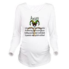 aries Long Sleeve Maternity T-Shirt