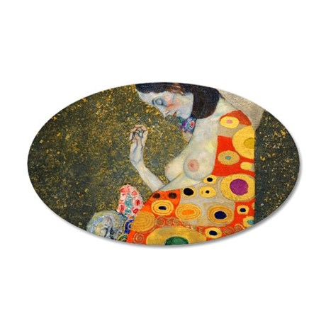 Klimt Cal 9 35x21 Oval Wall Decal