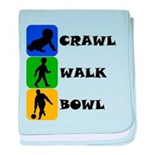 Crawl Walk Bowl baby blanket