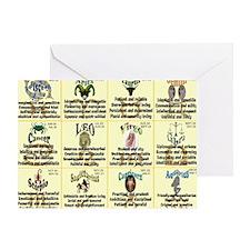 zodiac-calendar Greeting Card