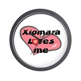 xiomara loves me  Wall Clock
