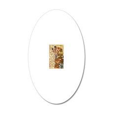 Klimt 24 20x12 Oval Wall Decal