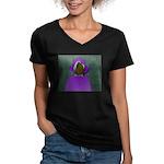 Cyber World Women's V-Neck Dark T-Shirt