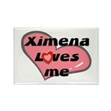 ximena loves me Rectangle Magnet