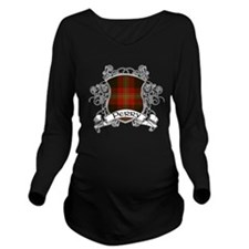 Perry Tartan Shield Long Sleeve Maternity T-Shirt
