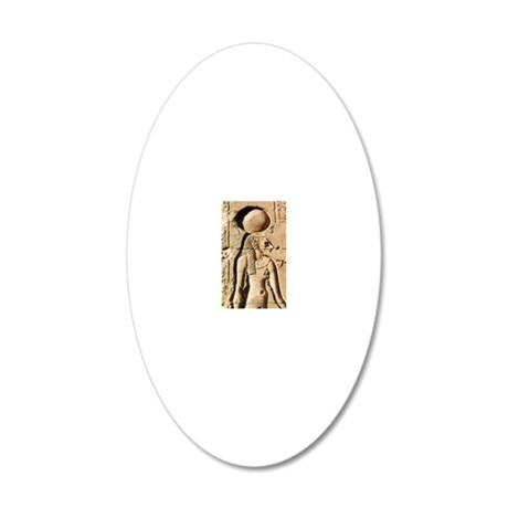 Sekhmet at Esna-shorter 20x12 Oval Wall Decal